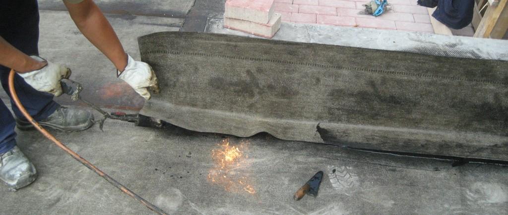 Posa della Guaina Impermeabilizzante mediante rinvenimento a fiamma